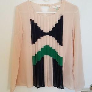 Color block blouse